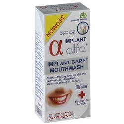 Alfa Implant 200ml - lagodny stomatologiczny płyn do ust z dodatkiem siemienia lnianego