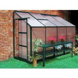 Szklarnia ogrodowa z poliwęglanu dostawiana do budynku o pow. 2,9 m² ZENAIS z podstawą