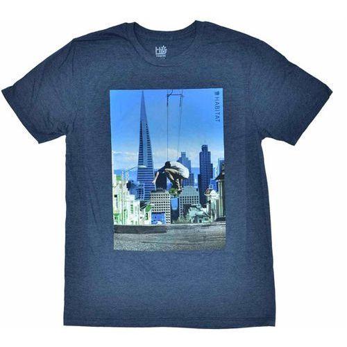 T-shirty męskie, koszulka HABITAT - Skyline Navy Hthr (MODRA) rozmiar: S
