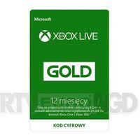 Klucze i karty pre-paid, Subskrypcja Xbox Live Gold (12 m-cy) [kod aktywacyjny]