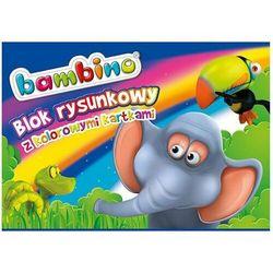 Blok rysunkowy BAMBINO A4 16k. - kolorowy