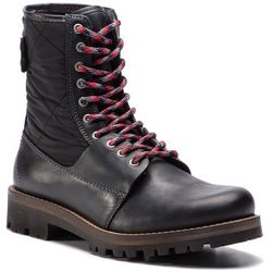 Trapery TOMMY HILFIGER - High Material Mix Winter Boot FM0FM02017 Black 990
