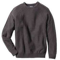 Sweter z szalikiem Slim Fit bonprix antracytowy