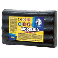 Modelina, Modelina 1 kg czarna - Astra