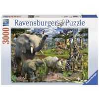 Puzzle, Puzzle Afrykańskie zwierzęta 3000 - Ravensburger