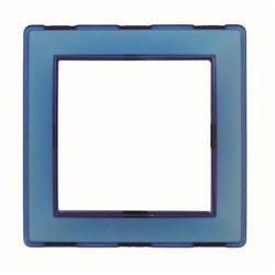 Ramka plastikowa jednokrotna niebieska Seria Corner