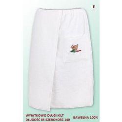 Sauna kilt ręcznik biały 100% bawełna uniwersalny 85*140 z logo