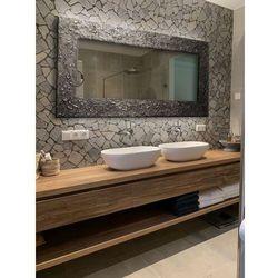 SILVER - duża artystyczna ręcznie wykończona rama do lustra rabat 20%