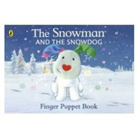 Książki do nauki języka, The Snowman and the Snowdog Finger Puppet Book (opr. kartonowa)