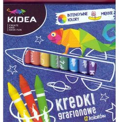 Kredki grafionowe 12 kolorów DERFORM