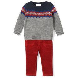Komplet 2-częściowy: sweterek i spodnie 1 miesiąc - 3 lata