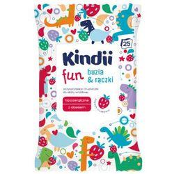 KINDII 25szt Fun Buzia & Rączki Chusteczki oczyszczające Dla dzieci