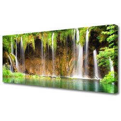 Obraz Canvas Wodospad Jezioro Przyroda