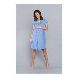 Koszula nocna ciążowa i do karmienia Kamelia - Niebieska