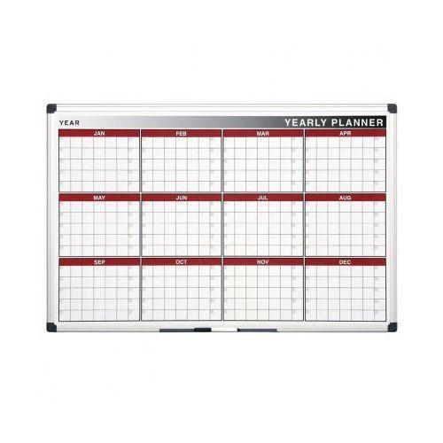 Tablice i flipcharty, Planer, Tablica suchościeralno-magnetyczna do planowania rocznego