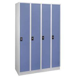 Szafa na garderobę, wysokość przegrody 1700 mm,4 przedziały o szer. 300 mm