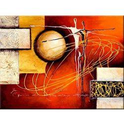 ręcznie malowany, grubo fakturowany obraz nowoczesny 90x80cm rabat 10%