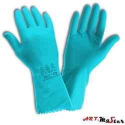 Rękawice ochronne gospodarcze lateksowe, flokowane bawełną Handprotector M
