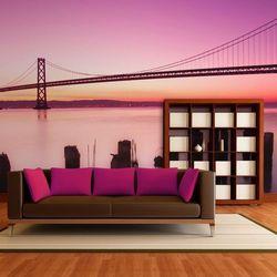Fototapeta - Zatoka San Francisco we fiolecie, Kalifornia