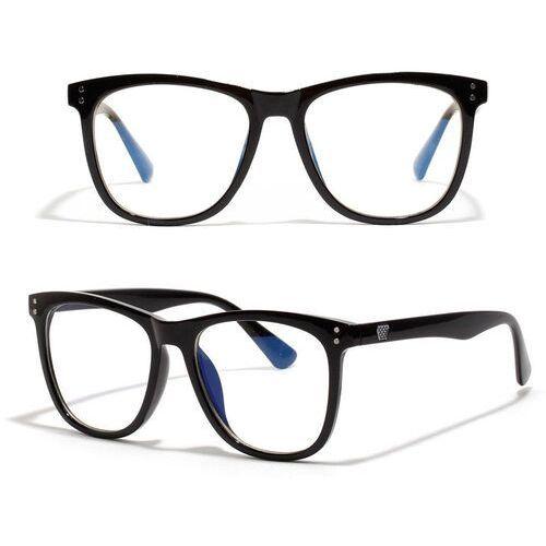 Pozostała galanteria, Okulary damskie zerówki czarne nerdy duże kujonki