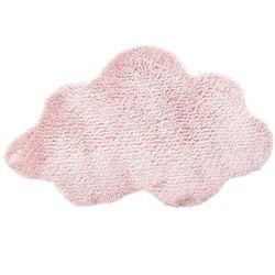 Dywanik z poliesteru w kształcie CHMURKI - kolor różowy, 60 x 90 cm