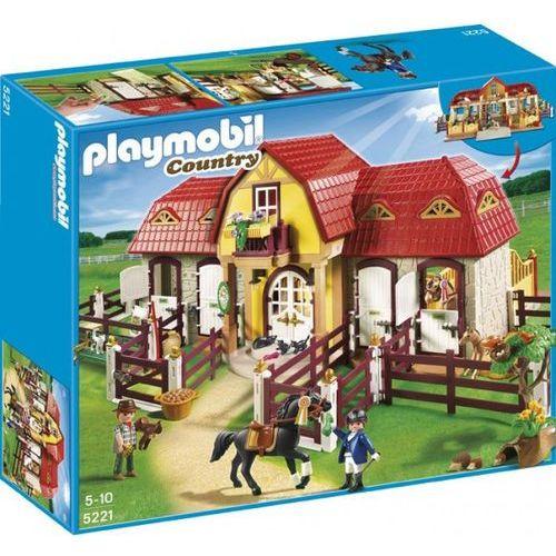 Klocki dla dzieci, Playmobil COUNTRY Duża stadnina koni z boksami 5221