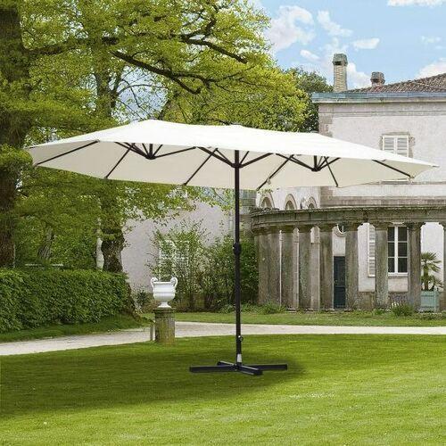 Parasole ogrodowe, Parasol ogrodowy podwójny 460x270cm z podstawa