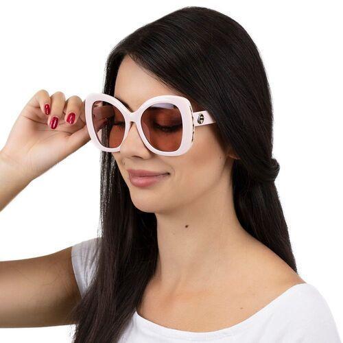 Okulary przeciwsłoneczne, Okulary przeciwsłoneczne damskie różowe okrągłe
