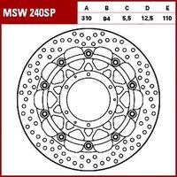 Tarcze hamulcowe do motocykla, TRW Tarcza hamulcowa MSW240SP HONDA CBR 600 RR 599