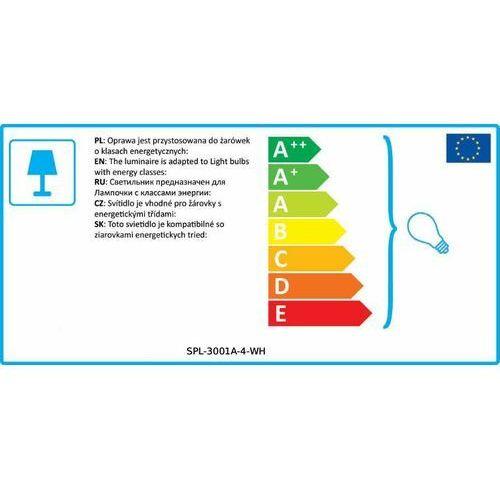 Lampy sufitowe, Italux Federic SPL-3001A-4-WH plafon lampa sufitowa 4x25W GU10 biała/ czarna