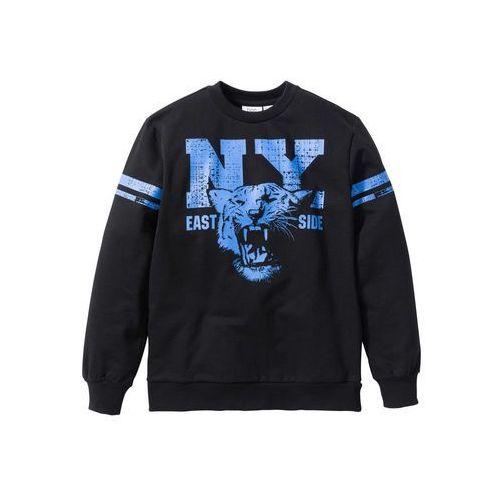 Bluzy dla dzieci, Bluza z nadrukiem w stylu college bonprix czarny