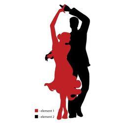 Naklejka ścienna sylwetka 45 - kompozycja dwukolorowa - Tancerze
