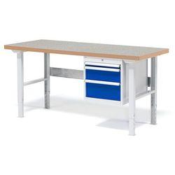 Stół warsztatowy Solid, zestaw z 3 szufladami, 500 kg, 1500x800 mm, laminat