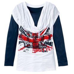 Shirt z długim rękawem 2 w 1 z dekoltem