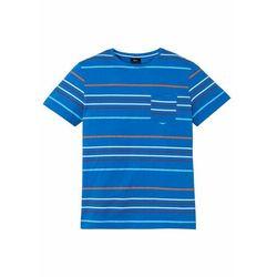 T-shirt Slim Fit bonprix biały z nadrukiem