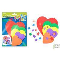Pozostałe artykuły szkolne, Ozdoba dekoracyjna piankowa serce 5 kompletów