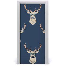 Naklejka samoprzylepna na drzwi Hipsterskie jelenie
