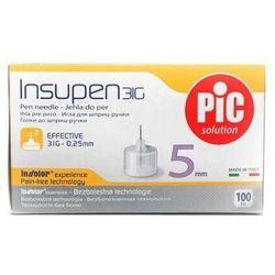 Insupen Igły do penów insulinowych 31G 0,25 x 5mm x 100 sztuk