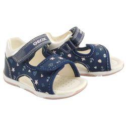 GEOX B920YA S.TAPUZ G. 0AW54 C0694 navy/pink, sandały dziecięce, rozmiary: 20-25