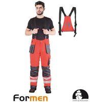 Kombinezony i spodnie robocze, SPODNIE OCHRONNE OGRODNICZKI OCIEPLANE LH-FMNWX-B POMARAŃCZOWY XXL