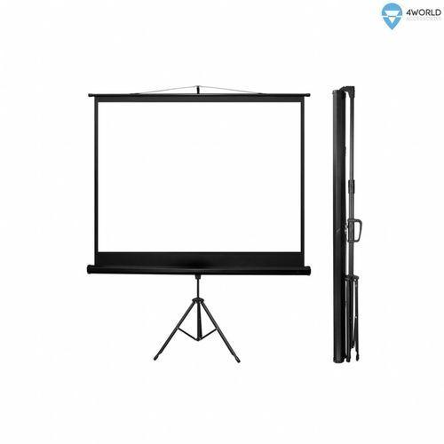 Ekrany projekcyjne, Ekran projekcyjny 4WORLD Matt White na statywie 170 x 127 cm