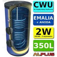 Pozostałe ogrzewanie, Wymiennik LEMET 350L 2 wężownice 2W +ANODA solarny Bojler Zbiornik Ogrzewacz CWU WYSYŁKA GRATIS