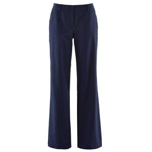Spodnie damskie, Spodnie lniane Loose Fit bonprix ciemnoniebieski