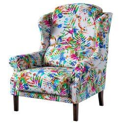 Dekoria Fotel Unique, kolorowe liście na białym tle, 85 × 107 cm, New Art