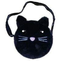Torebki dziecięce, Torebka na ramię pluszowa czarny kot