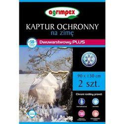Dwuwarstwowy Kaptur ochronny na zimę Agrimpex Plus 90x130 cm 2 szt.