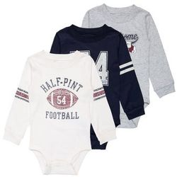 Carter's BOY FOOTBALL ATHELTIC MULTI BABY 3 PACK Body ivy ivory