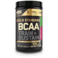 Aminokwasy, OPTIMUM NUTRITION Gold Standard BCAA Train + Sustain, 266 g - Malina-Granat