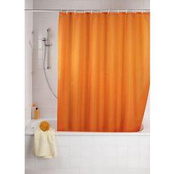 Zasłona prysznicowa, tekstylna, kolor pomarańczowy, 180x200 cm, WENKO