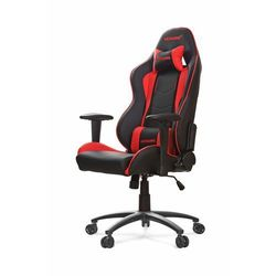 AKracing Nitro Red Krzesło gamingowe - Czarno-czerwony - Skóra PU - 150 kg